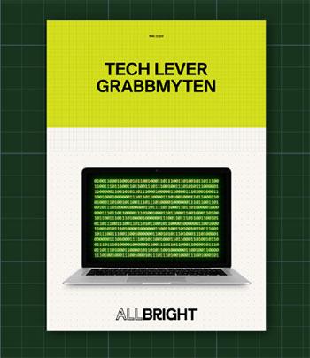 """Rapport Allbright """"Tech lever grabbmyten"""""""